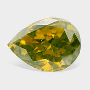 0.95 ctw,  Pine Green Color,  SI1 Clarity,  Pear Shape Loose Diamonds