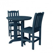 All Weather Outdoor 3 Piece Round Counter Dining Set
