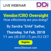 Webinar On Vendor/CRO Oversight How effectively are you doing?