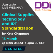 Webinar on Clinical Supplies Technology and IRT Standardization