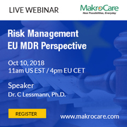 Webinar on Risk Management EU MDR Perspective